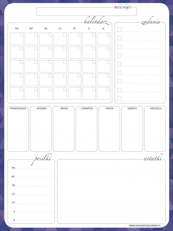Imagination Fridge Planner XL